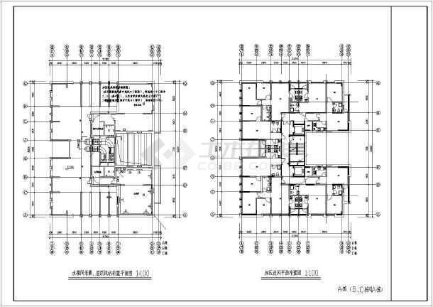 点击查看某40000㎡地上十八层住宅采暖通风全套图纸第1张大图