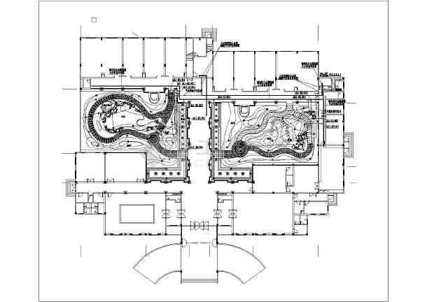 [泉州]宾馆庭院园林景观工程施工图-图2