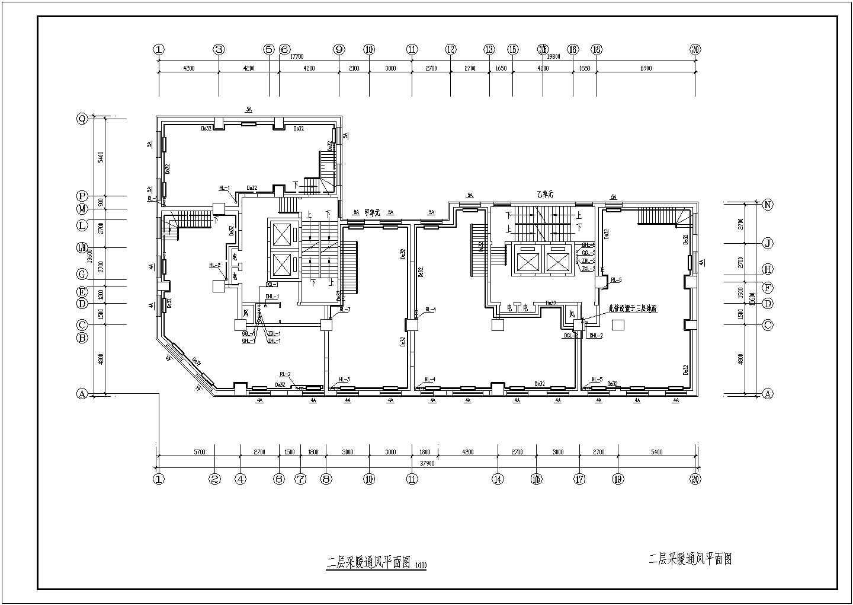 吉林某15056�O小区二十五层商住楼采暖通风图图片1