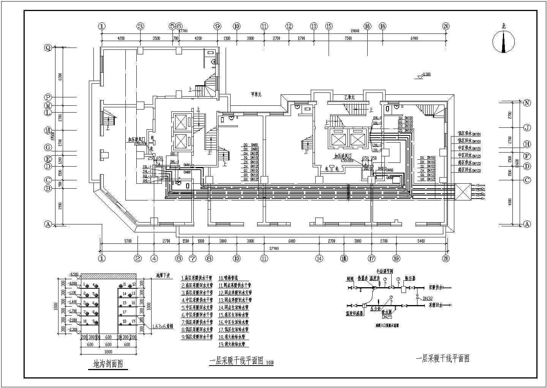 吉林某15056�O小区二十五层商住楼采暖通风图图片2
