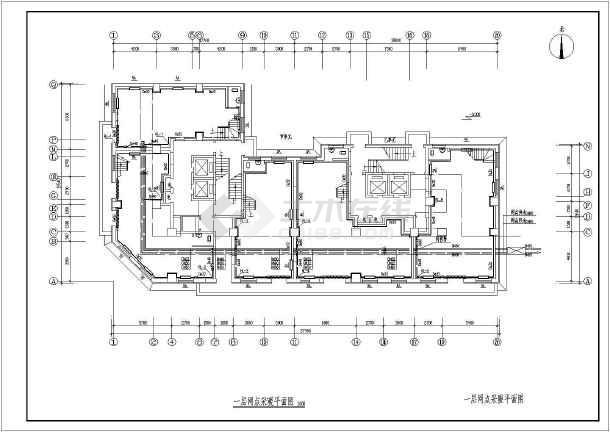 吉林某15056㎡小区二十五层商住楼采暖通风图-图2