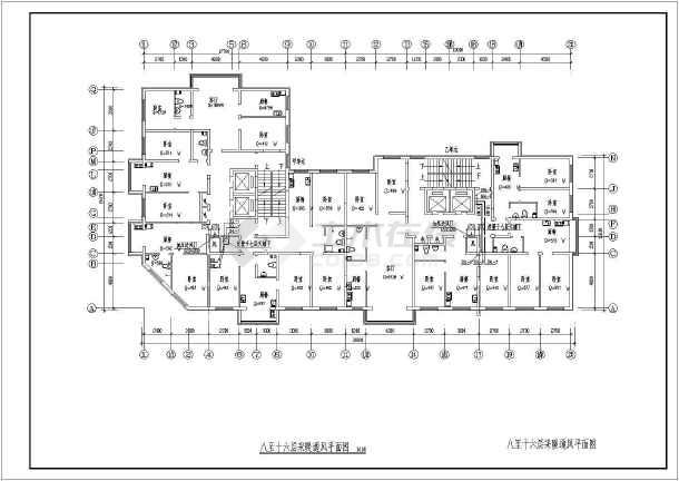吉林某15056㎡小区二十五层商住楼采暖通风图-图3
