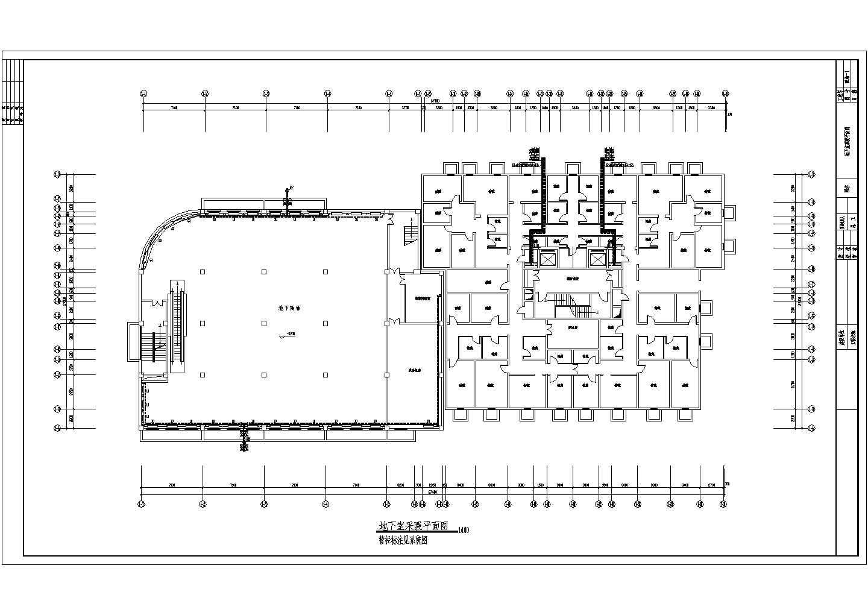 某18807�O十六层商住楼采暖通风图(散热器供暖)图片1
