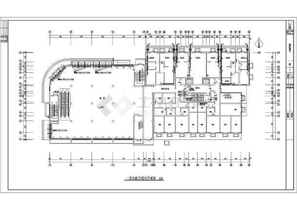 某18807㎡十六层商住楼采暖通风图(散热器供暖)-图二