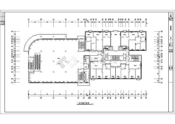 某18807㎡十六层商住楼采暖通风图(散热器供暖)-图3