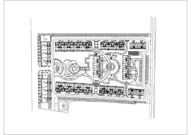 [都江堰]高档住宅小区中庭庭院园林景观工程施工图-图二