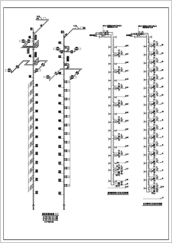 某十七层商住楼采暖通风图(散热器供暖,热水辐射)图片1