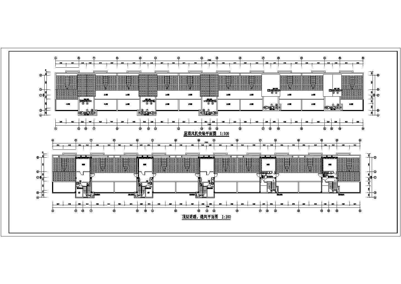 某十七层商住楼采暖通风图(散热器供暖,热水辐射)图片3