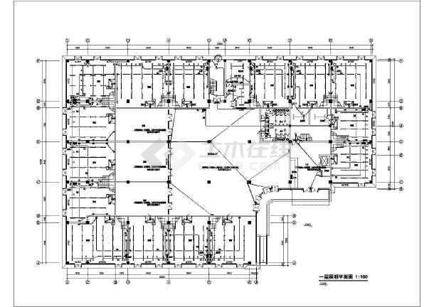 某地上五层商务楼电气施工图纸(二级负荷,第三类防雷)-图二