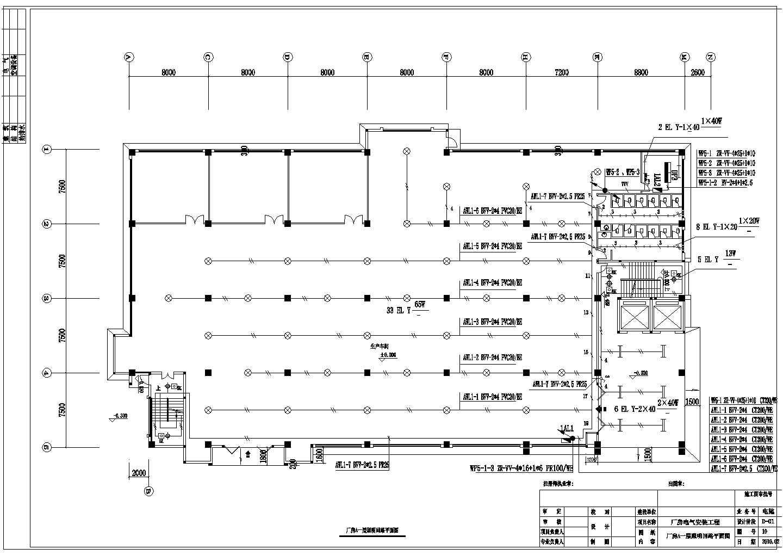 某工业厂房电气施工图纸(含电气设计说明)图片1