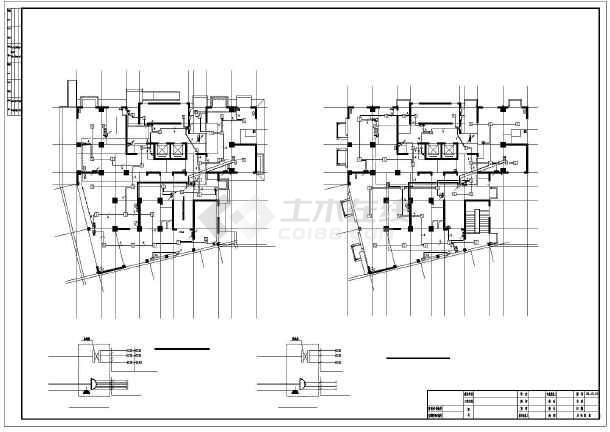 点击查看某8986㎡二十三层商住楼电气施工图纸(含车库)第2张大图