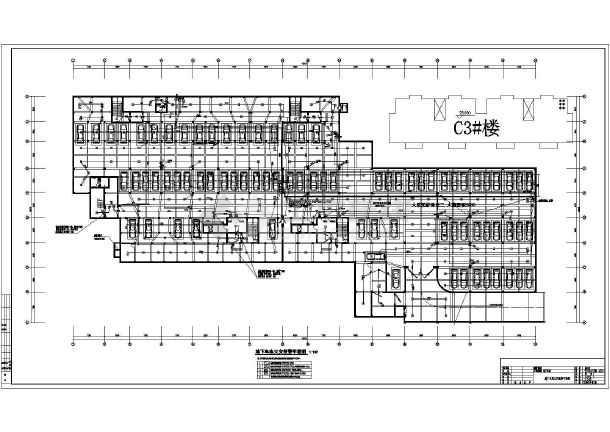 安徽某单层地下车库电气施工图(二级负荷)-图二