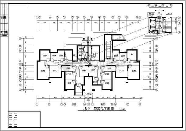 点击查看某地上十七层住宅楼电气施工图纸(含车库,二级负荷)第1张大图