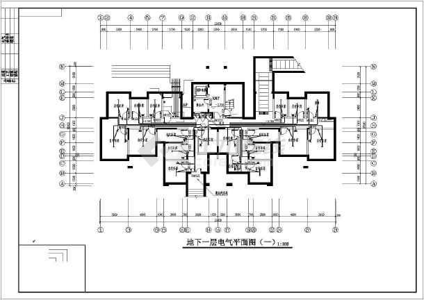 某地上十七层住宅楼电气施工图纸(含车库,二级负荷)-图2