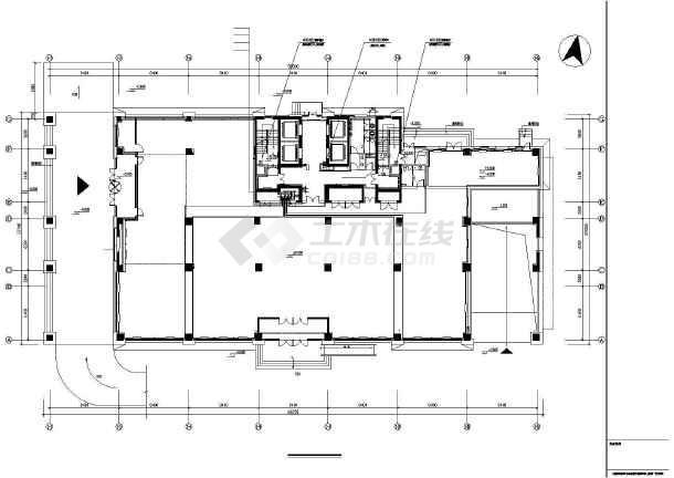 某44750㎡地上十七层办公楼采暖通风图(散热器供暖)-图一