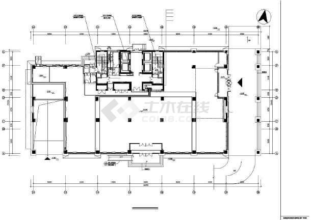 某44750㎡地上十七层办公楼采暖通风图(散热器供暖)-图1