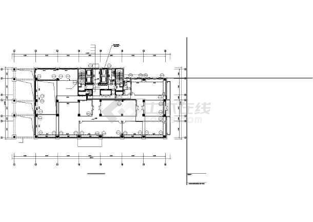某44750㎡地上十七层办公楼采暖通风图(散热器供暖)-图2