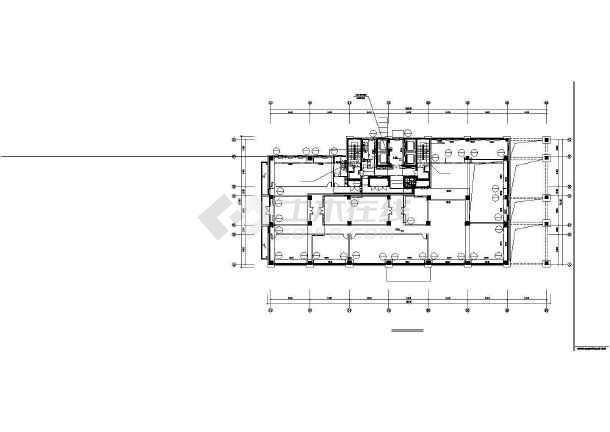 某44750㎡地上十七层办公楼采暖通风图(散热器供暖)-图3