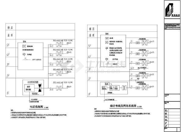 深圳某4500㎡地上五层综合楼全套电气施工图-图3