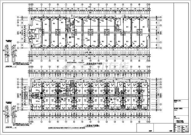 点击查看某9844㎡地上七层公寓式酒店电气施工图(三级负荷)第1张大图