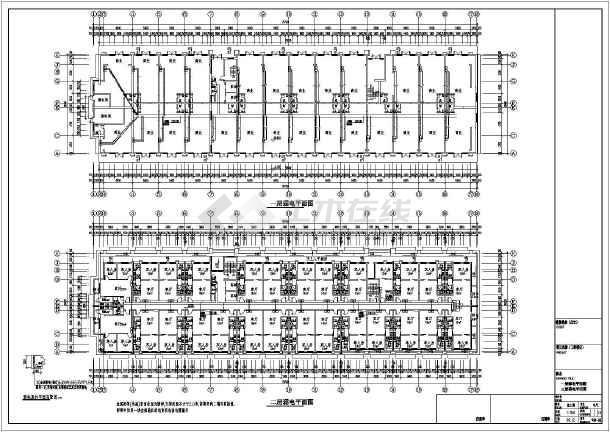 某9844㎡地上七层公寓式酒店电气施工图(三级负荷)-图1