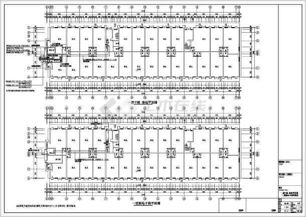 某9844㎡地上七层公寓式酒店电气施工图(三级负荷)-图3