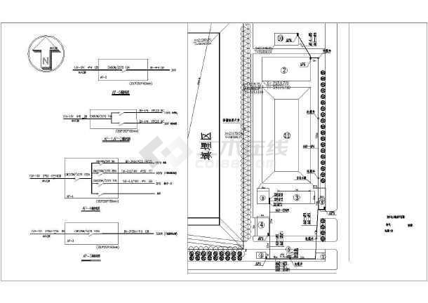 邯郸某地上一层垃圾预埋场电气施工图(三级负荷)-图2