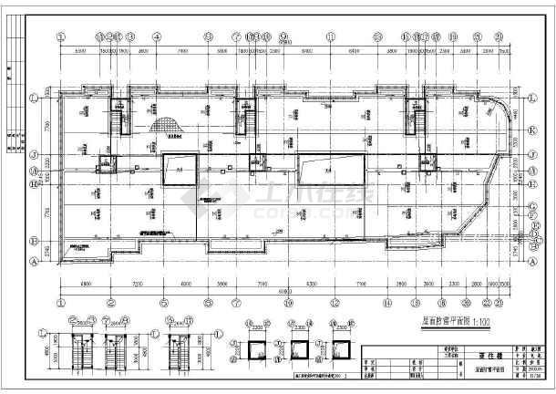 某6505㎡地上六层商住楼电气施工图(三级负荷)-图3