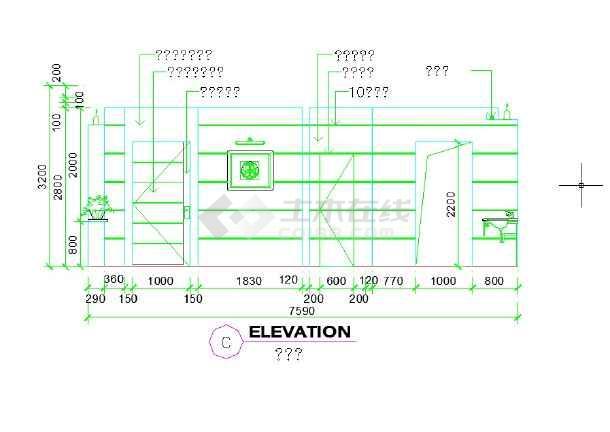多套公共卫生间室内装修设计详图-图一