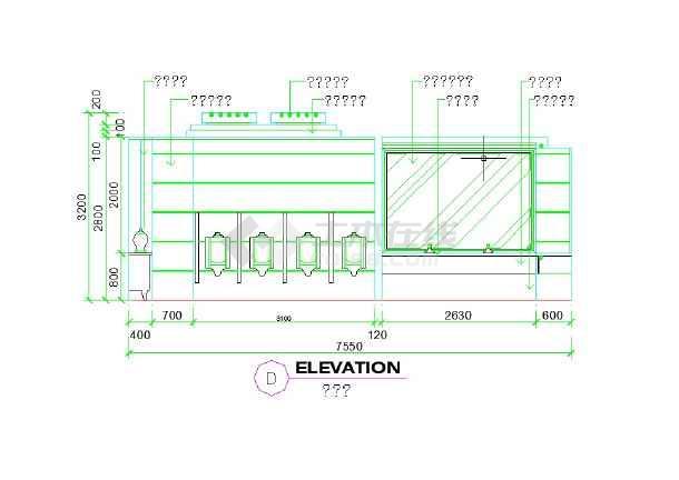 多套公共卫生间室内装修设计详图-图二