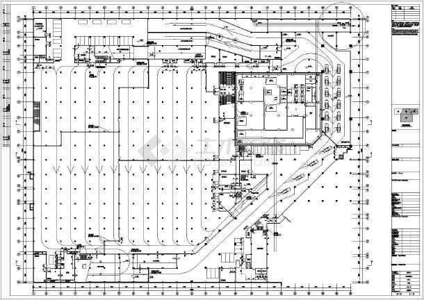 哈尔滨某广场暖通施工图(含设计说明)-图一