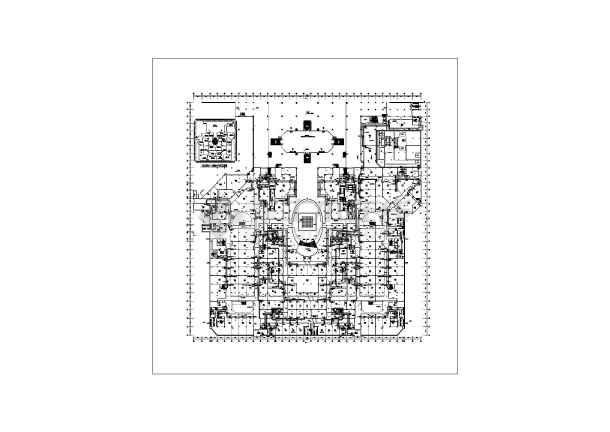 哈尔滨某广场暖通施工图(含设计说明)-图1