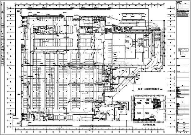 哈尔滨某广场暖通施工图(含设计说明)-图3