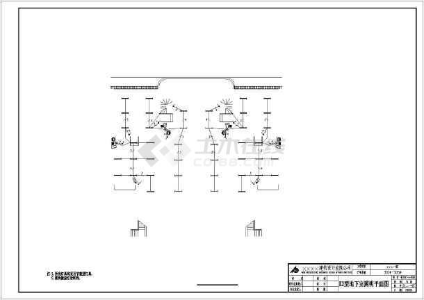 某24064㎡地上五层住宅电气施工图(含车库,三级负荷)-图二
