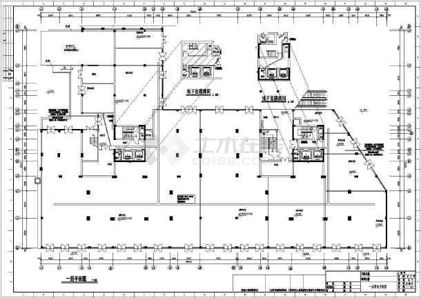 某小区十七层住宅楼全套电气施工图纸(含车库)-图一