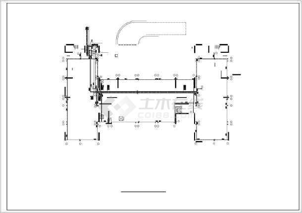 某2209㎡地上十二层综合楼采暖通风图(散热器供暖)-图2