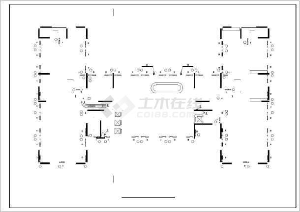 某2209㎡地上十二层综合楼采暖通风图(散热器供暖)-图3