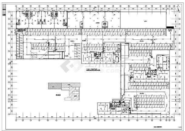 某10389㎡两层地下车库全套电气施工图(二级负荷)-图1