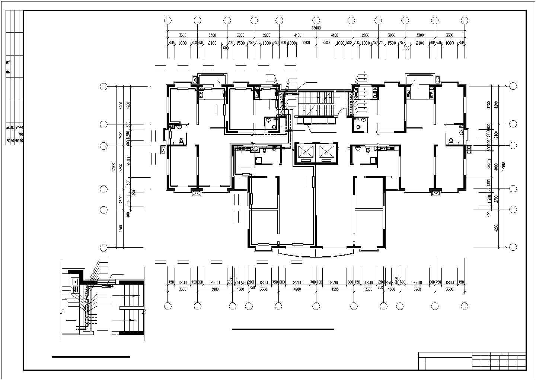 吉林某地上二十六层商住楼采暖图(散热器系统)图片3