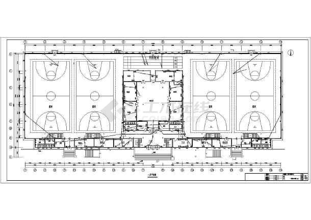 某5957㎡地上两层青少年活动中心电气施工图(二级负荷)-图1
