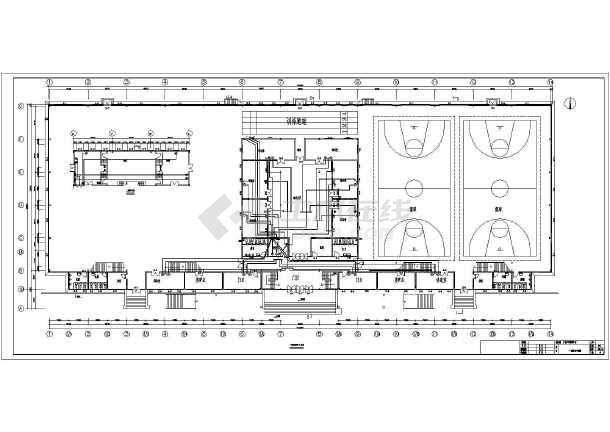 某5957㎡地上两层青少年活动中心电气施工图(二级负荷)-图2