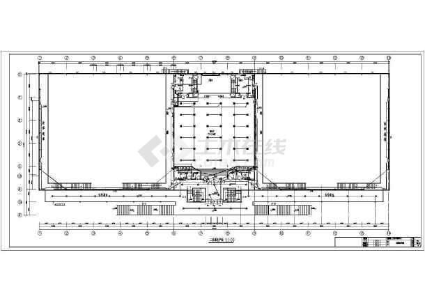 某5957㎡地上两层青少年活动中心电气施工图(二级负荷)-图3