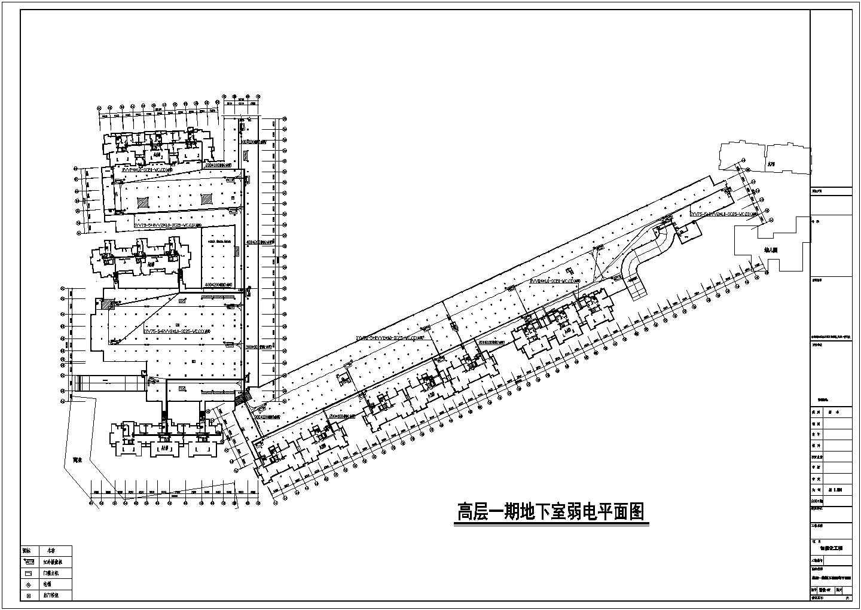 安徽某258665�O住宅小区智能化弱电系统施工图图片1