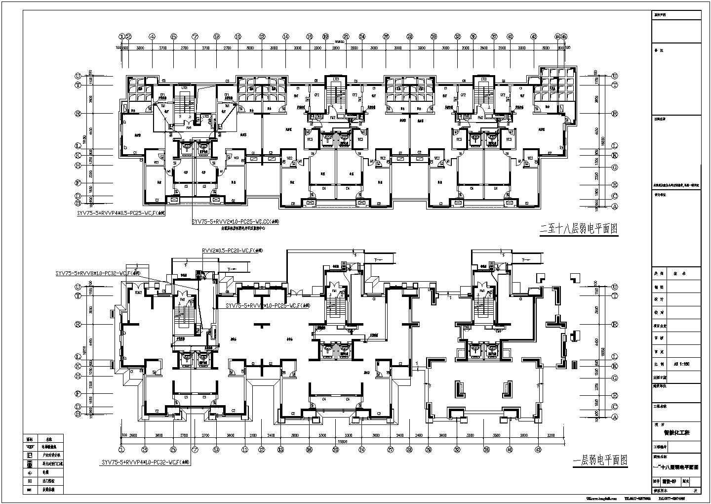 安徽某258665�O住宅小区智能化弱电系统施工图图片2