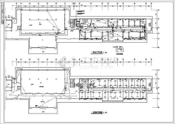 点击查看某7627㎡六层办公楼电气施工图(高22米)第1张大图