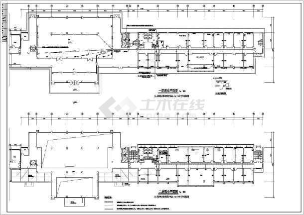 某7627㎡六层办公楼电气施工图(高22米)-图1