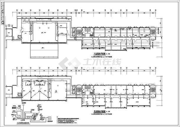 某7627㎡六层办公楼电气施工图(高22米)-图3