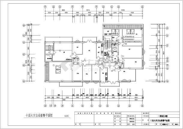 某20842㎡地上十层住宅电气施工图(二级负荷)-图一