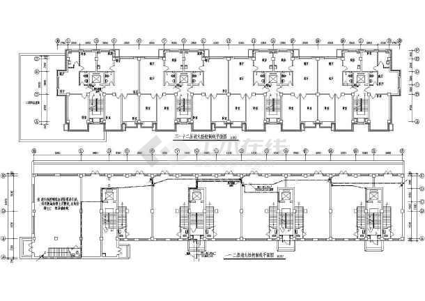 某高层钢筋混凝土结构住宅楼电气施工图(含人防)-图一