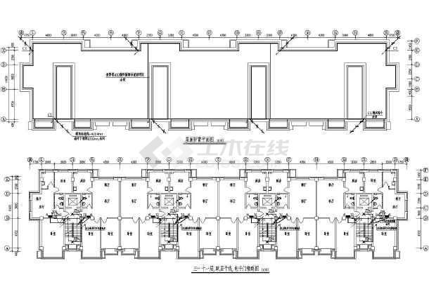 某高层钢筋混凝土结构住宅楼电气施工图(含人防)-图二